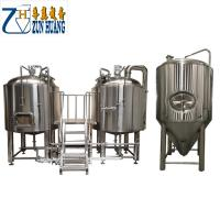 1000L / 2000L / 3000l Commercial Microbrewery Equipment Semi Automatic For Hotel
