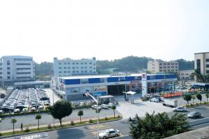 China Steel Buildings And Structures For Car Sales Centre Shop And Car Parking Area on sale