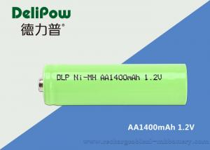 China LED AA NIMH Rechargeable Battery 1400mAh With 3 Years Cycle Life on sale
