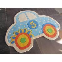 handmade 100%acrylic children carpet / kids area rug with car design