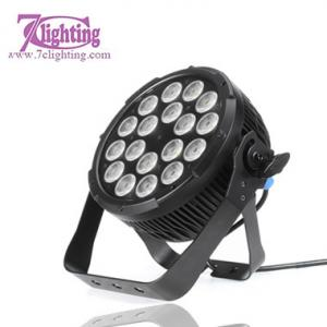 China IP65 18x15W RGBWA Round Par DMX LED FLAT PAR Outdoor Spotlight on sale