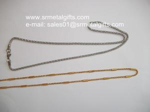 China Costume jewelry stainless steel curb chain necklace and bracelet set on sale