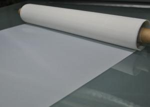 China 100% Monofilament White 120T - 34 Polyester Screen Printing Mesh For Glass Printing on sale