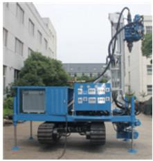 China Blue Self Walking Water Well Drilling Rig , Water Well Drilling Equipment on sale