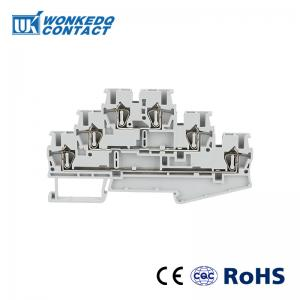 China JST 2.5-3L There Layer Spring Terminal Blocks Multi levels Wiring For Automation Solution on sale
