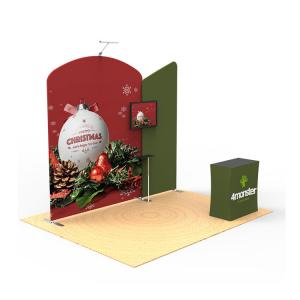 China Foldable Trade Show Booth Displays 10x10 Custom Printed Solid Reusable on sale