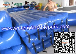 China Beach Inflatable Water Park Play Mat / PVC Inflatable Floating Water Mattress on sale