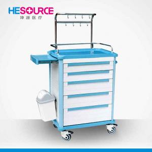 China Hospital ABS Infusion Trolley Infusion Nursing Medical Storage Trolley on sale