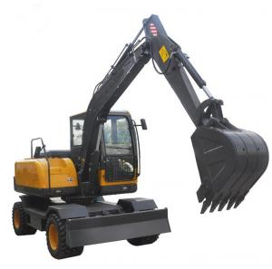 China Humanized 6 Ton Wheel Excavator Machine For Construction Low Fuel Consumption on sale