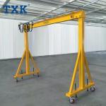 Workshop Mobile Gantry Crane Adjustable 2- 10 Meter Lifting Height