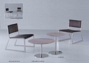 Quality 黒い大理石の上部のテーブル、居間の円形の大理石のコーヒー テーブル、円卓会議 for sale