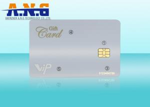 China ISO7816 CR80 Printing contact smart card , Smart IC Card with SLE4442 Chip on sale