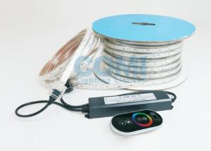 China 6W / M 5050 RGB Trip Chip High Voltage LED Strip Light IP67 With AC RGB Controller on sale