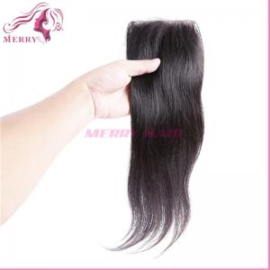 China best selling factory price can be dyed 8-20inch straight lace closure 4*4 on sale