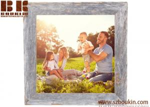 China Wholesale european style beautiful sixy gifts wooden photo frame 8.2 x 8.2 x 0.8 inches on sale