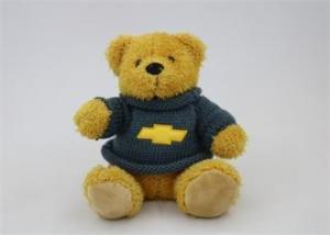 China Stuffed Plush Teddy Bear Toys bear with knitting shirt promotion bear with logo on sale