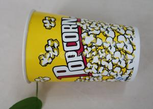 China 85oz Custom Printed Paper Cups , Paper Popcorn Boxes Containers OEM Acceptable on sale