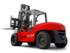 China JAC 10 Ton Diesel Forklift , Large Capacity Counterbalance Forklifts , Heavy Equipment Forklift , Red Or Orange Color on sale