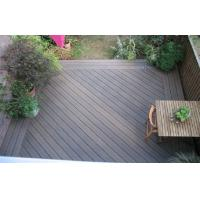 Engineered Grain Surface WPC Deck Flooring For Outdoor Decoration Natural Wood Color