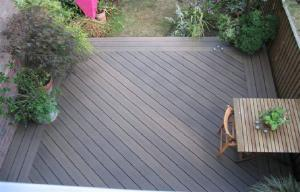 China Engineered Grain Surface WPC Deck Flooring For Outdoor Decoration Natural Wood Color on sale