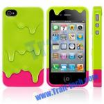 溶かして下さいiPhone 4S/iPhone 4 (薄緑の+Rose)のためのアイス クリームの取り外し可能で堅い箱を