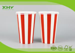 China 500ml 16oz Milkshake Cold Drink Take Away Cold Paper Cups with Lids on sale