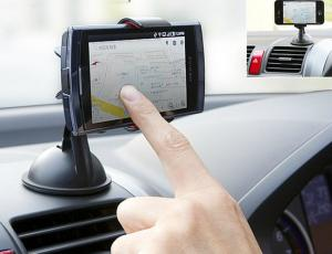 China LG / Samsung Note 3 Mounted Car GPS Holder , Rotating Asus Zenfone 6 Car Holder on sale