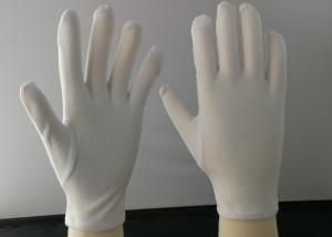 China 65% Polyester Material Cotton Knitted Gloves , Garden Work Gloves Hemming Cuff on sale