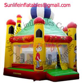 China Amazing Outdoor family play Inflatable Jump Bouncy Castle House Combo OEM / ODM on sale