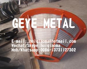 China Centrifuge Wedge Wire Screen Baskets, Vee Profile Wedge Wire Basket Strainers, Triwire Centrifugal Conical Baskets on sale
