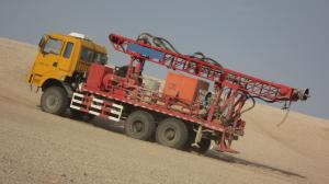 China drilling rig for 3D seismic shothole in desert on sale