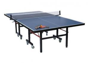Quality Economic Indoor Table Tennis Table 15mm Top Thickness Blue Color With Steel Leg for sale