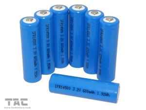 China Solar Battery IFR14500/AA 3.2V 600mAh LiFePO4 Battery For Solar light on sale