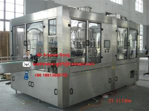China Automatic glass bottle wine filling machine/ bottling machine (3 in 1) on sale