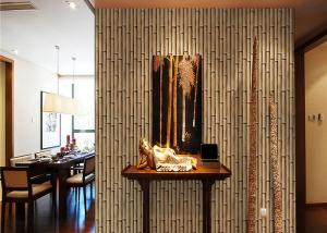 China Nature Bamboo 3d Home Wallpaper , Living Room 3d Effect Wallpaper For Walls on sale