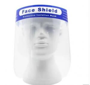 China Anti Fog PET Material Face Splash Shield personal Against Saliva / Flying on sale