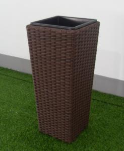 China PE rattan patio plant pot Outdoor Furnitures  , steel frame garden plant pot on sale