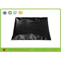Moisture Proof Custom Mailing Bags 23 X 33cm , Black Color Plastic Courier Bags