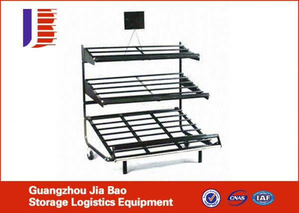 Cold Rolled Steel Fruit And Vegetable Rack , Shop Light Duty Adjustable  Metal Shelving