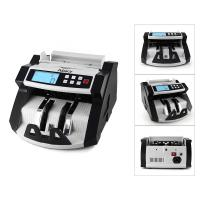 China Automatic Multi-Currency Cash Banknote Money Bill Counter Counting Machine LCD Display with UV MG Counterfeit Detector F on sale