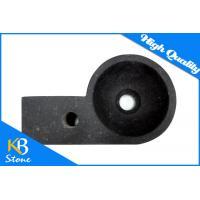 China Home Use Polished Marble Stone Bath Corner Wash Basin Pure Black Round Sink on sale