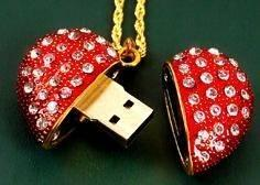 China Diamond Jewelry Mini USB Flash Disk with Keychain on sale