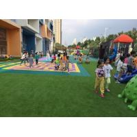 Lush Artificial Grass Fixed On Surface , With Elastic Cushions Children Play Mat