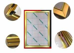 China Jewelry Display Advertising Light Box Picture Frame, Gold Color Led Poster Light Box on sale