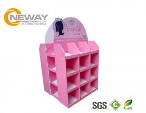 China 4 Shelves Corrugated Cardboard Pallets Custom Poster Display Rack on sale