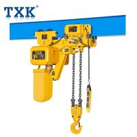 China 2 Ton Low Headroom Electric Chain Hoist 110V With Electric Trolley And Pendant Cable on sale