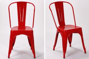 Quality Cafe Marais Metal Tolix Chairs Stackable / Antique Industrial Tolix  Metal Frame For Sale ...