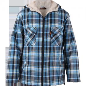 China lamb fur warm winter jackets Custom Workwear long sleeve plaid coat on sale