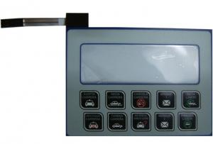 China EL Push Button Backlit Membrane Switch , Film Switch For Laser Machine on sale