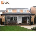 Triple Glazed Aluminium Bifold Doors Thermal Break Lowe Sound Insulation folding glass windows and doors folding sliding